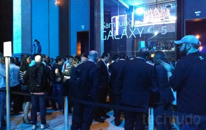 Samsung marcou evento em São Paulo para anunciar as novidades do Galaxy S5 (Foto: Renato Bazan / TechTudo)