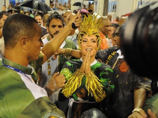Claudia Leitte na Sapucaí (Foto: Alexandre Durão/G1)