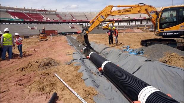Obras de modernização do Beira-Rio  (Foto: Divulgação AG/Inter)