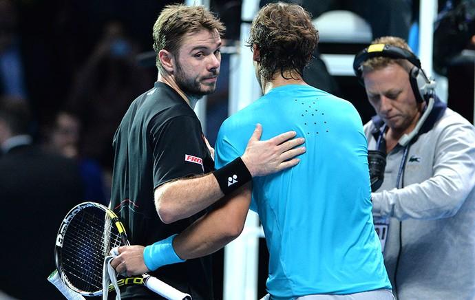 Têni ATP Finals Nadal e Wawrinka (Foto: Agência AFP)