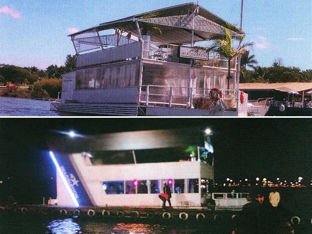 Fotos do Imagination antes do acidente, em 03 de maio de 2010, e no dia do naufrágio, no dia 22 de maio de 2011 (Foto: Divulgação)