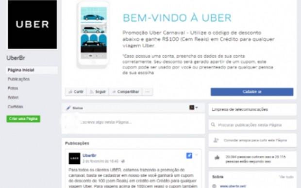 Página falsa prejudica usuário do serviço (Foto: Reprodução )