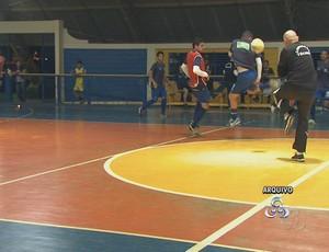 Treino da AABB Rio Branco de futsal (Foto: Reprodução/TV Acre)