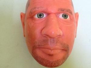 Máscara feita com restos de sabonete foi encontrada dentro da Penitenciária Padrão de Santa Rita. (Foto: Walber Virgolino/Seap)