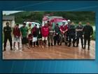 Turistas de MG são resgatados após tromba d'água no ES