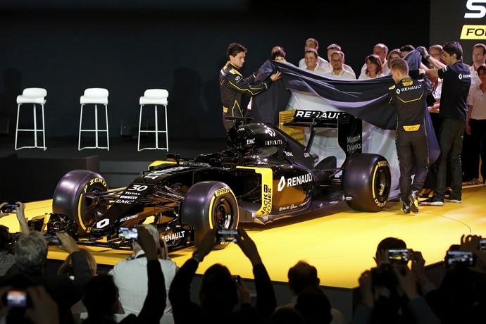 Lançamento do carro da Renault para a temporada 2016 da Fórmula 1 (Foto: Reuters)