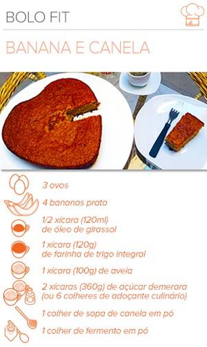 EuAtleta Arte Info receita BOLO DE BANANA Fit (Foto: Eu Atleta / Arte)