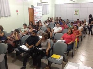 Coordenadores municipais de imunização foram orientados sobre dados (Foto: John Pacheco/G1)