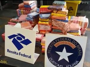 Receita apreende 340 kg de cocaína em contêiner no Porto de Paranaguá (Foto: Divulgação/Receita Federal)