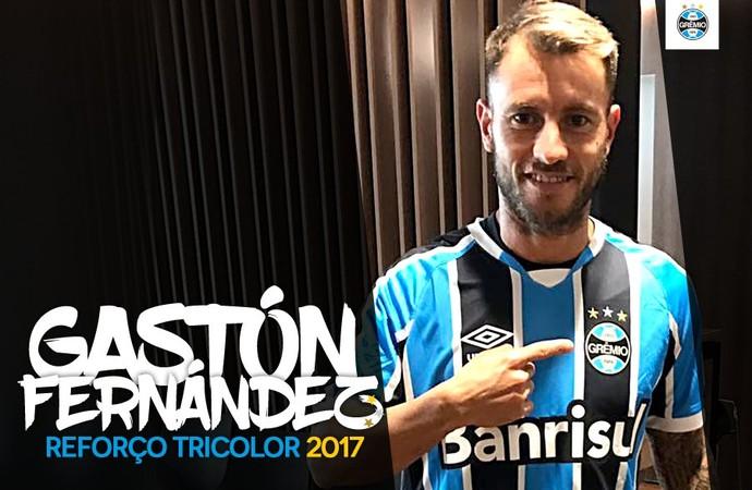 Gaston Fernandez Grêmio (Foto: Reprodução)
