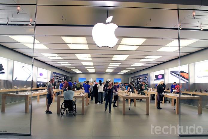 Apple Store em Austin, Texas, tem bastante procura pelos novos smartphones da Apple  (Foto: Anna Kellen/Techtudo)