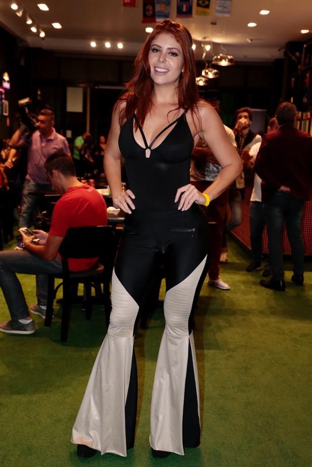 Amanda Gontijo -  Ex BBB assiste a estreia do programa. (Foto: Rafael Cusato/EGO)