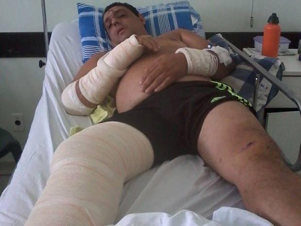 Octávio passou 13 dias internado no Hospital Irmã Dulce em Praia Grande, SP (Foto: Octávio Neto / Arquivo Pessoal)