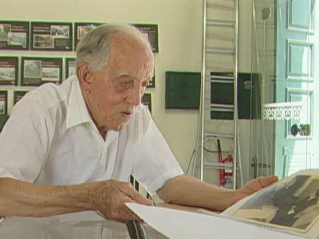 Professor Edésio Del Santoro tinha 94 anos (Foto: Reprodução/TV Tribuna)