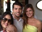 Cristiana Oliveira passa o domingo com a filha e o neto