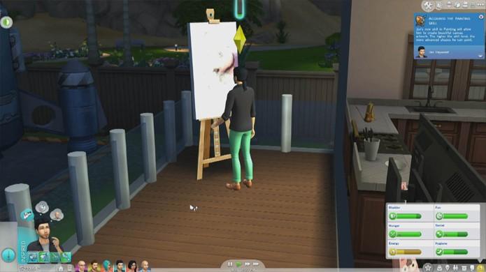 Invista em quadros menores até ter habilidade para pintar quadros grandes (Foto: simcitizens.com)