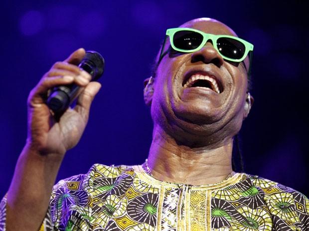 75a9e7e9e Stevie Wonder durante show no Festival de Montreux, na Suíça, nesta  quarta-feira