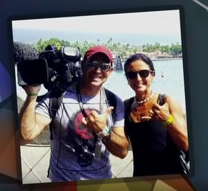 Fernanda Keller faz homenagem ao repórter cinematográfico Ari Júnior (Foto: TV Globo)