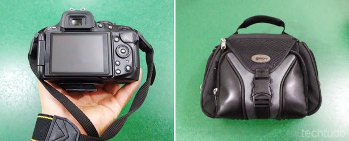 A alça e uma bolsa para transportar sua câmera são fundamentais para assegurar a integridade do equipamento (Foto: Adriano Hamaguchi/TechTudo)