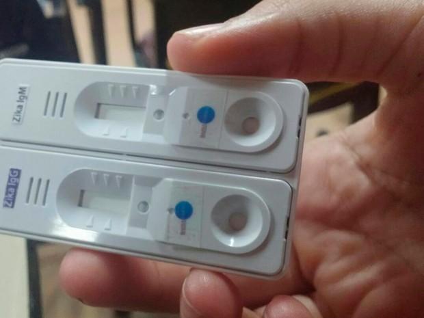 Zika teste rápido 02 (Foto: Juliana Almirante/G1)