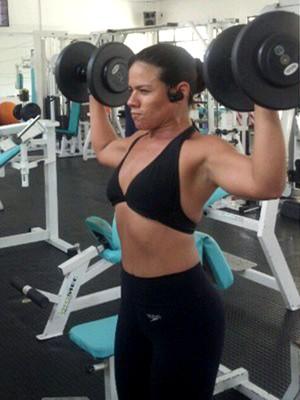 Andreia faz exercícios físicos de domingo a domingo (Foto: Andreia Teixeira/Arquivo Pessoal)