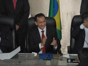 Posse do governador do Amapá Waldez Góes, nesta quinta-feira (1º) (Foto: Gabriel Penha/G1-AP)