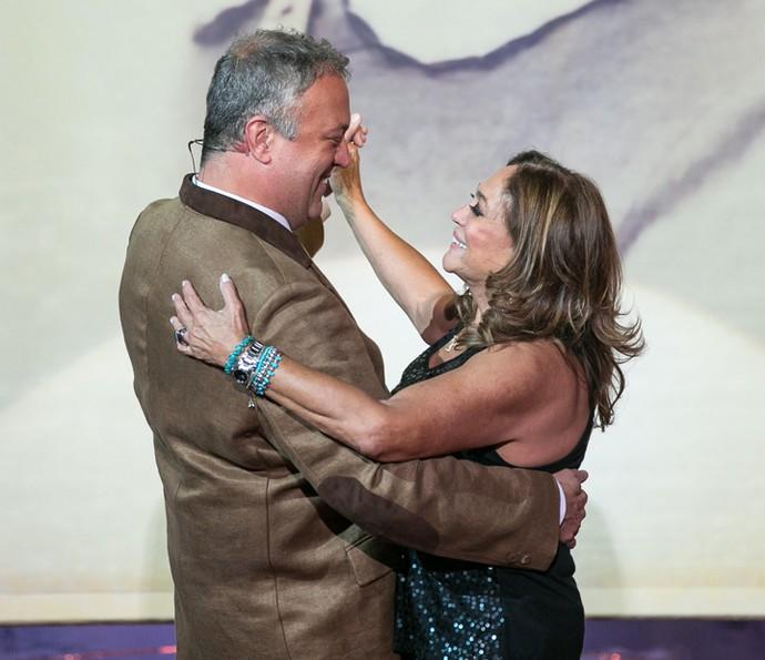 Susana Vieira dança com o filho Rodrigo (Foto: Isabella Pinheiro / Gshow)
