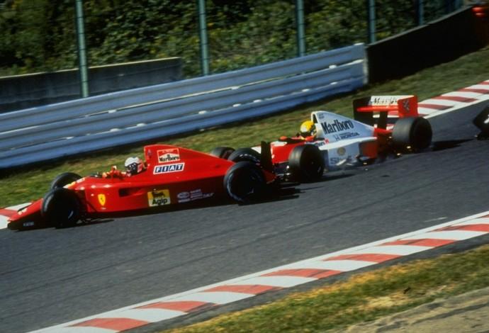 Em 1990, Suzuka foi palco do famoso 'troco' de Ayrton em Prost, que garantiu o título para o brasileiro (Foto: Getty Images)
