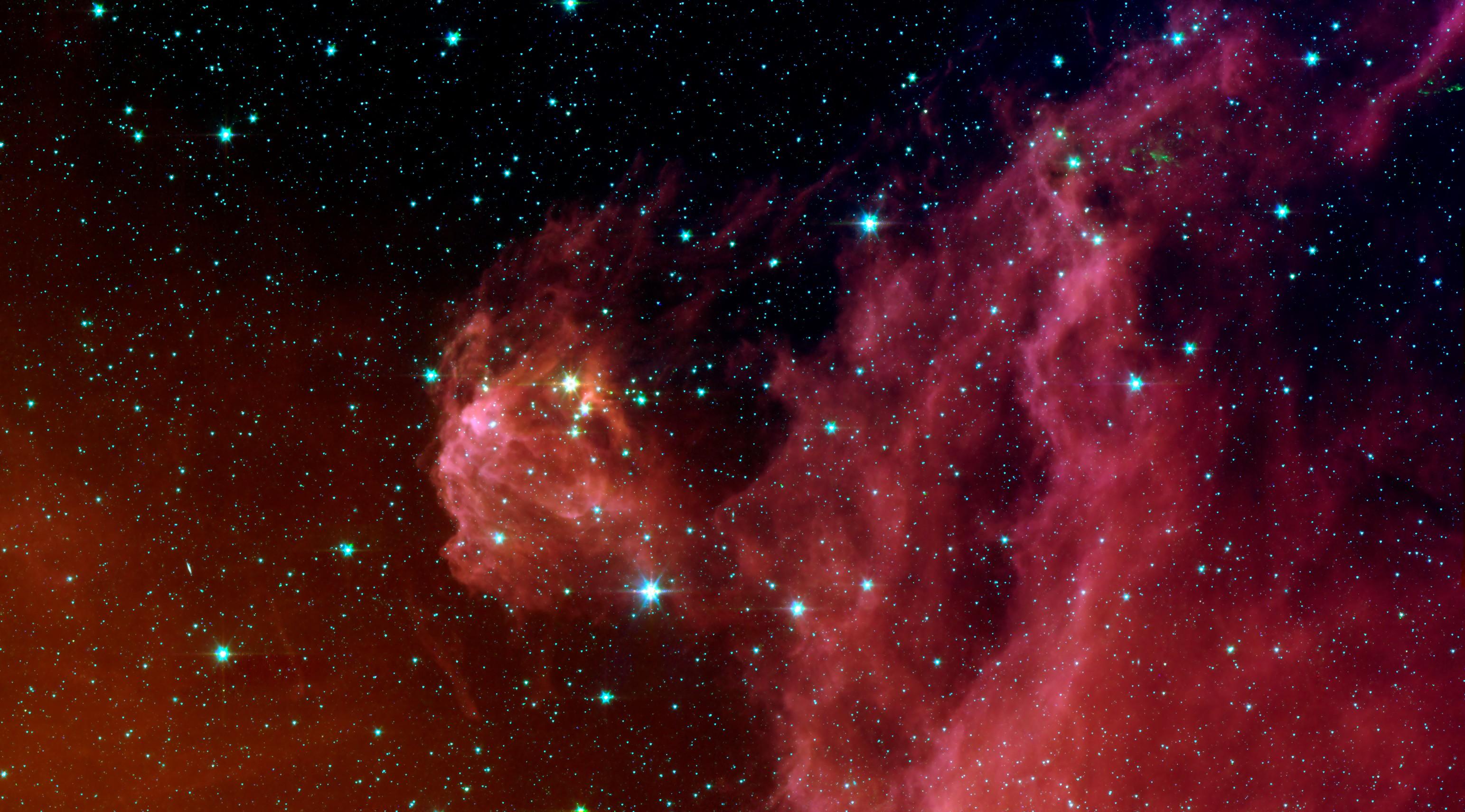 Formação de estrelas na constelação de Órion  (Foto: NASA/JPL-Caltech/D. Barrado y Navascués (LAEFF-INTA))