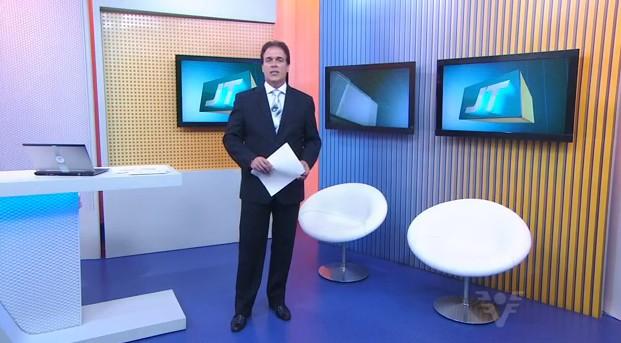 Tony Lamers no Jornal da Tribuna 1ª Edição (Foto: Reprodução/TV Tribuna)