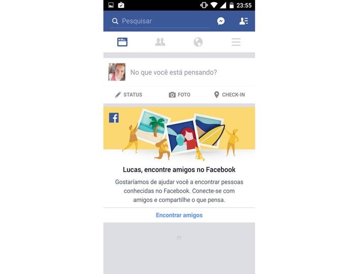 Segundo perfil do Facebook (Foto: Reprodução/Lucas Mendes)