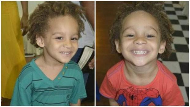 Bilhete pedia que cabelo de gêmeos Antônio e Benício fosse aparado ou trançado (Foto: Arquivo pessoal/Débora Figueiredo)