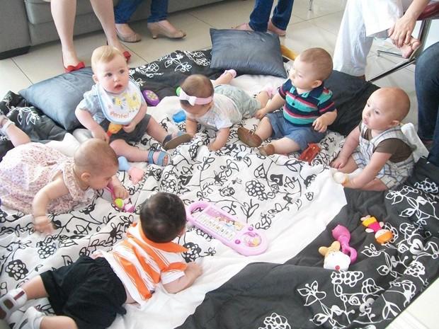 Bebês estão sempre junto no encontro das mães (Foto: Arquivo Pessoal)
