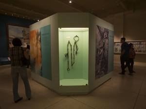 Corrente do milagre do escravo exposta no Museu (Foto: Thiago Leon/Museu N. S. Aparecida)