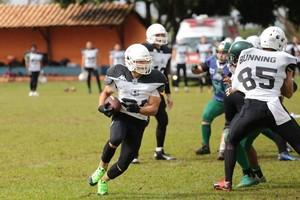 Campo Grande Gravediggers x Uberlândia Lobos em Terenos, futebol americano (Foto: Raphael Oliveira/Uberlândia Lobos)