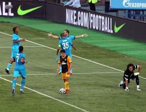 Zenit x AEL Limassol (Foto: Reprodução / Twitter)