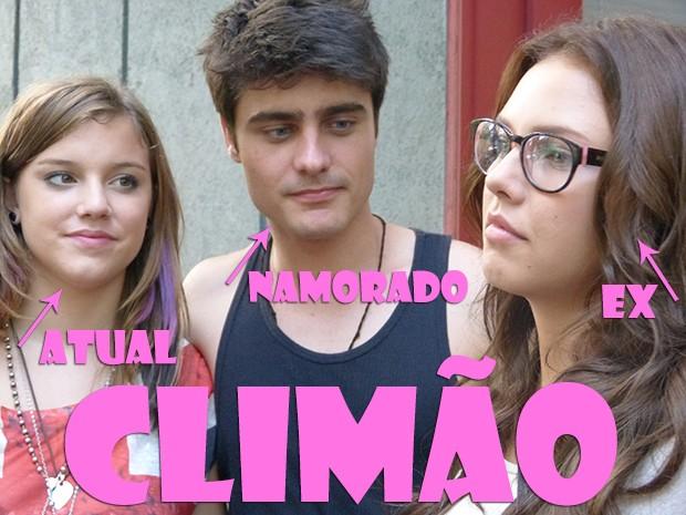 Encontrar a ex é TENSO! (Foto: Malhação / TV Globo)