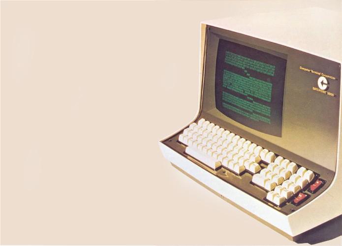 DataPoint 3300, um dos primeiros terminais com suporte a vídeo (Foto: Divulgação/CTC)