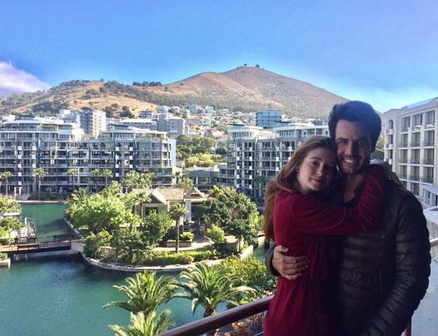Marina e Xandinho no hotel de luxo da Cidade do Cabo (Foto: Reprodução Instagram)