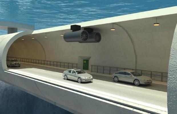Projeto de pontes submersas na Noruega (Foto: Divulgação)