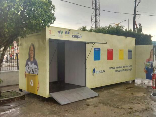 Guamá ganha posto de coleta de resíduos recicláveis em Belém (Foto: Divulgação/Celpa)