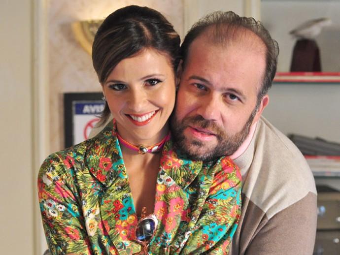 Djalma e Flavinha já passaram por muito momentos fofos nessas cinco temporadas (Foto: Estevam Avellar /TV Globo)