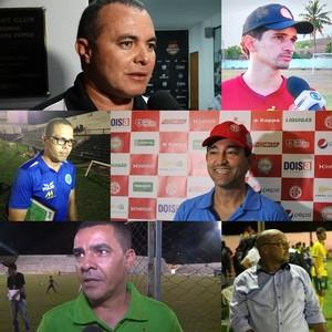 Técnicos dos times do interior do Pernambucano 2017 (Foto: GloboEsporte.com)