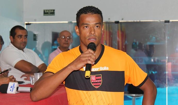 Marcelo Macêdo, atacante Flamengo-PI (Foto: Josiel Martins/GloboEsporte.com)