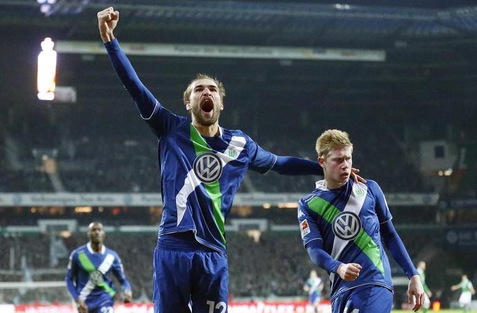 Dost e De Bruyne Werder Bremen x Wolfsburg (Foto: AP)