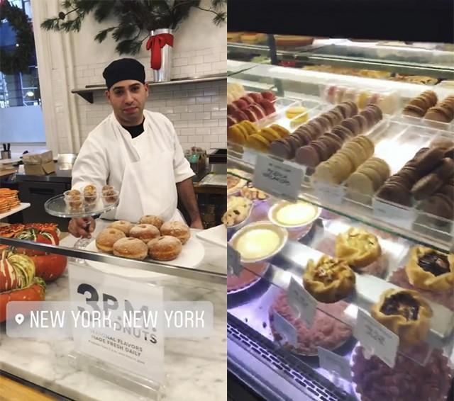 Mari Goldfarb resistiu bravamente às delícias da loja gourmet Dean e Delucca  (Foto: reprodução/instagram)