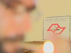 lei antifumo em são josé (Foto: Reprodução/TV Vanguarda)
