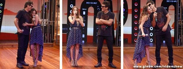 Evandro Mesquita e filha cantam sucesso da Blitz (Foto: Inácio Moraes/TV Globo)