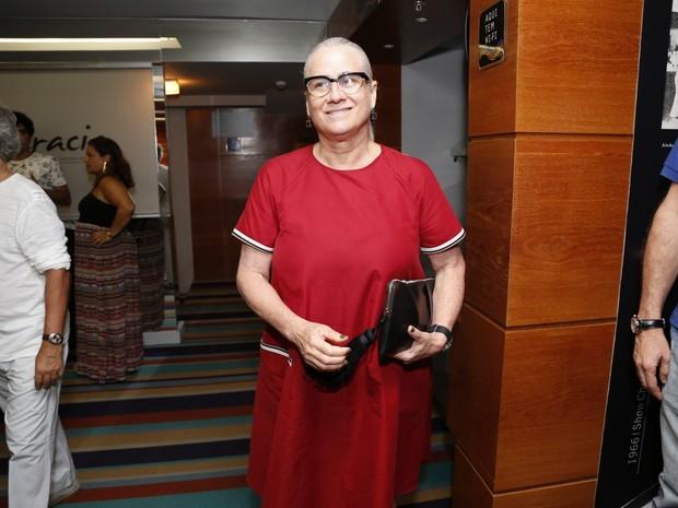 Vera Holtz em estreia de peça na Zona Sul do Rio (Foto: Felipe Assumpção/ Ag. News)