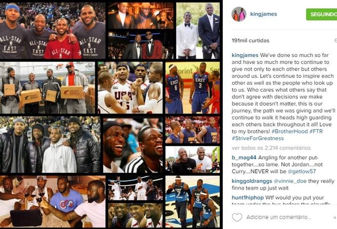 LeBron James Cleveland Cavaliers NBA Basquete (Foto: Instagram)